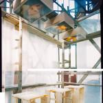 """Raumansicht """"Tische"""", Zeigung '98, Zeche Zollverein"""